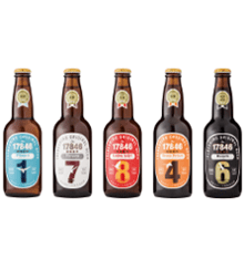 Inawashiroji Beer 5 Types 330ml 5-Bottle Set